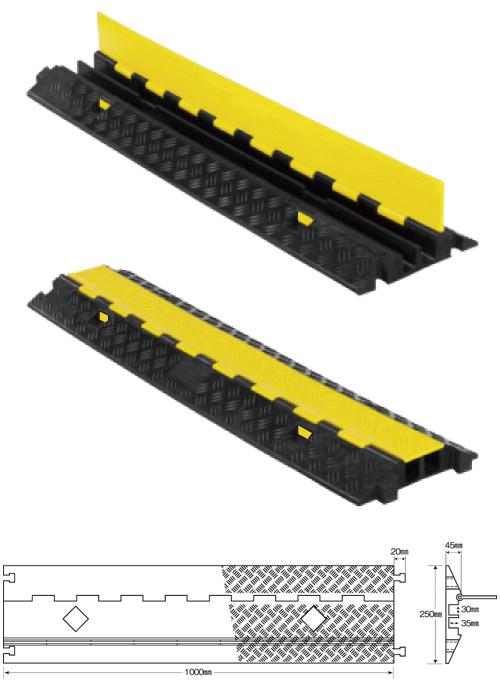 強化型ケーブルプロテクター どこでもケーブルスリム収納タイプ